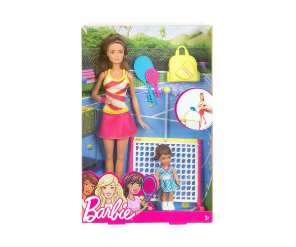 Комплект за игра с кукла треньор